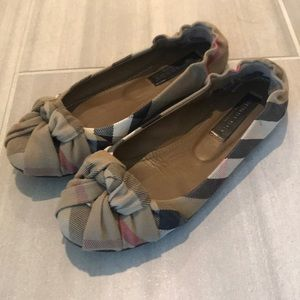Burberry Checked Flats